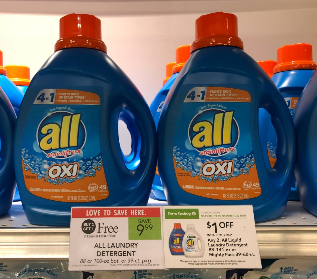 All Laundry Detergent As Low As $3.50 At Publix on I Heart Publix