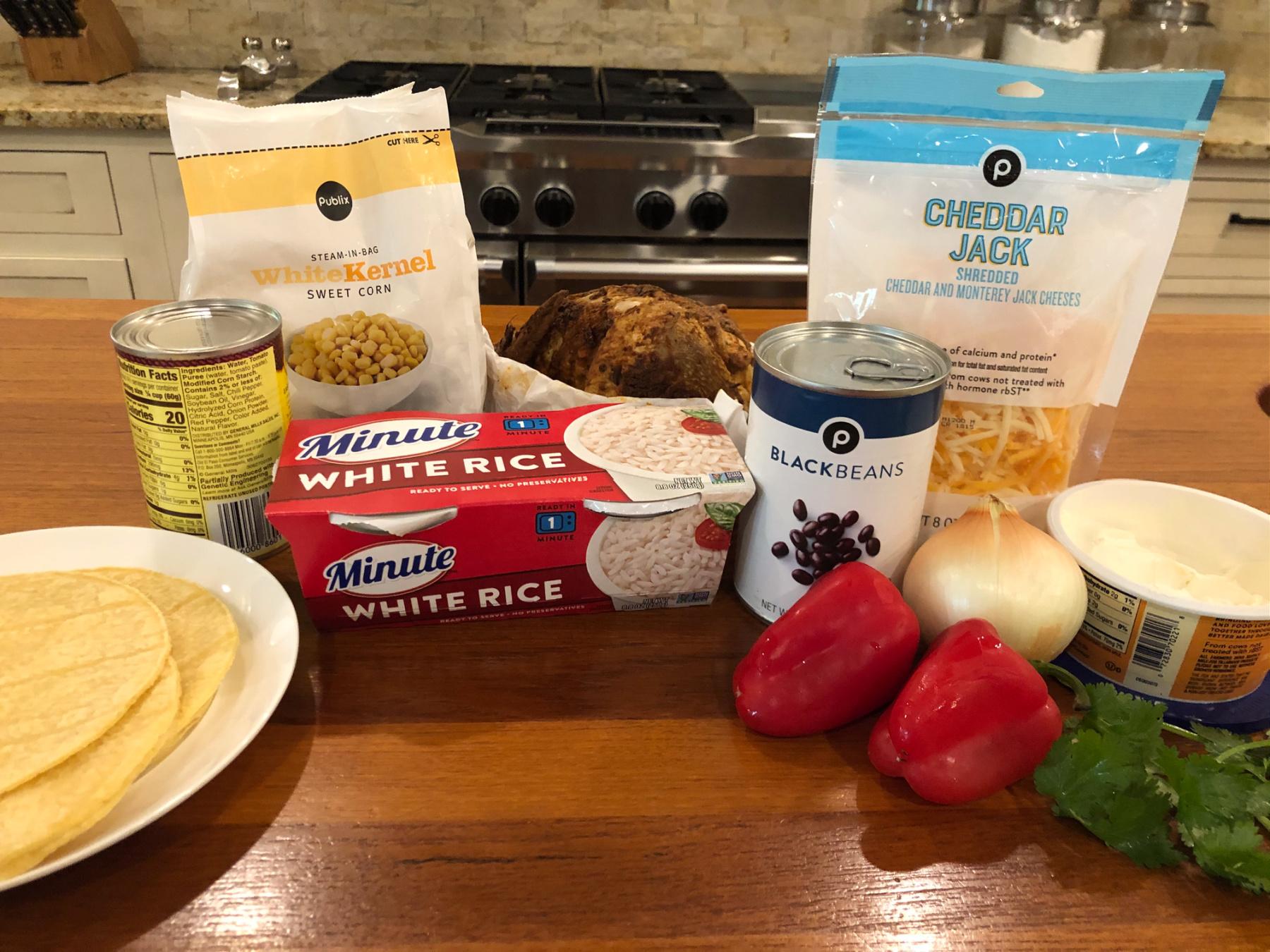 Easy Chicken & Rice Enchilada Skillet on I Heart Publix 1