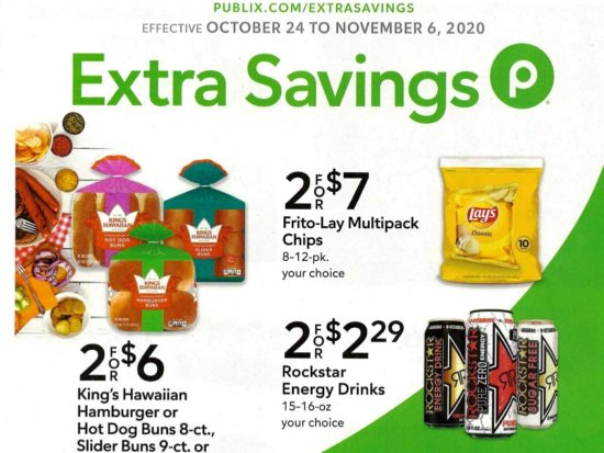 Publix Extra Savings Flyer, 10/24 to 11/6 on I Heart Publix