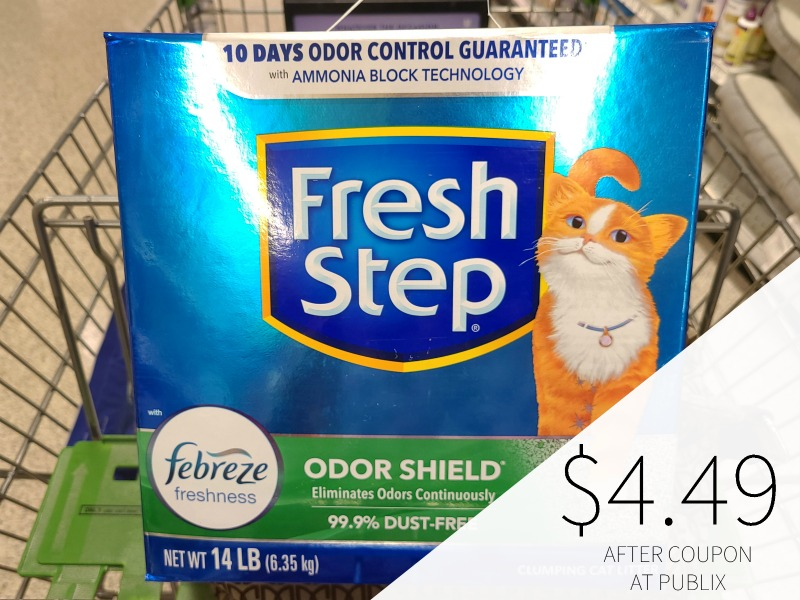 Fresh Step Clumping Cat Litter Just $4.49 At Publix (Less Than Half Price!) on I Heart Publix 1