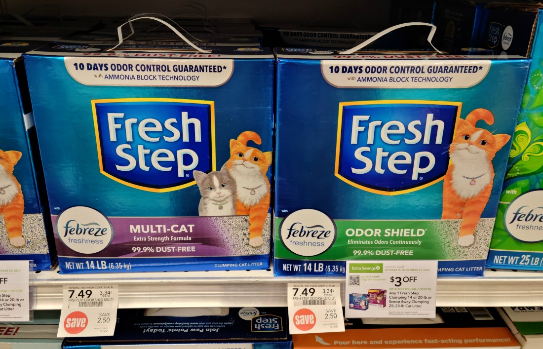 Fresh Step Clumping Cat Litter Just $4.49 At Publix (Less Than Half Price!) on I Heart Publix