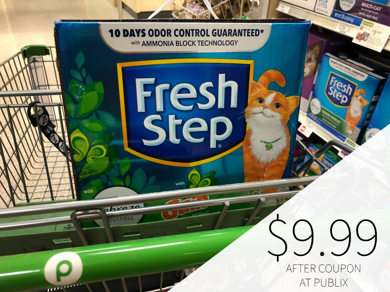 Fresh Step with Febreze Freshness and Gain Scent Cat Litter Just $9.99 (Save $6!!) on I Heart Publix 1