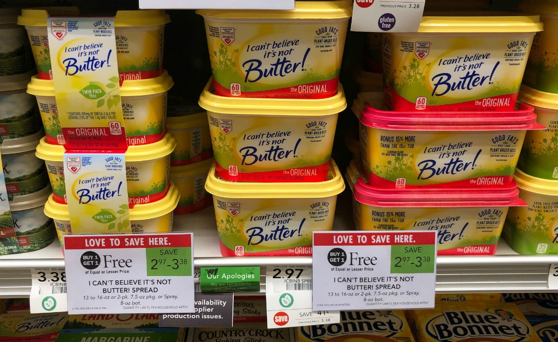 I Can't Believe It's Not Butter! As Low As 69¢ At Publix on I Heart Publix