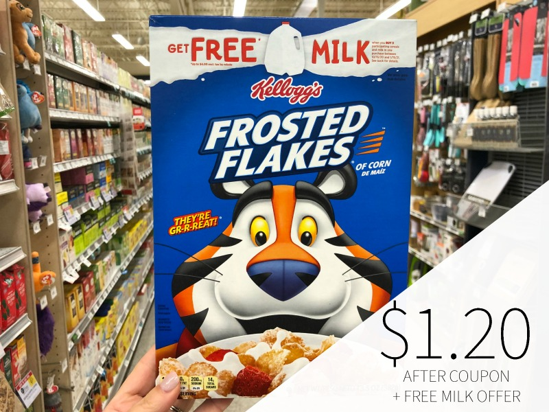 Kellogg's Frosted Flakes Just $1.20 Per Box - Plus FREE Milk Offer on I Heart Publix