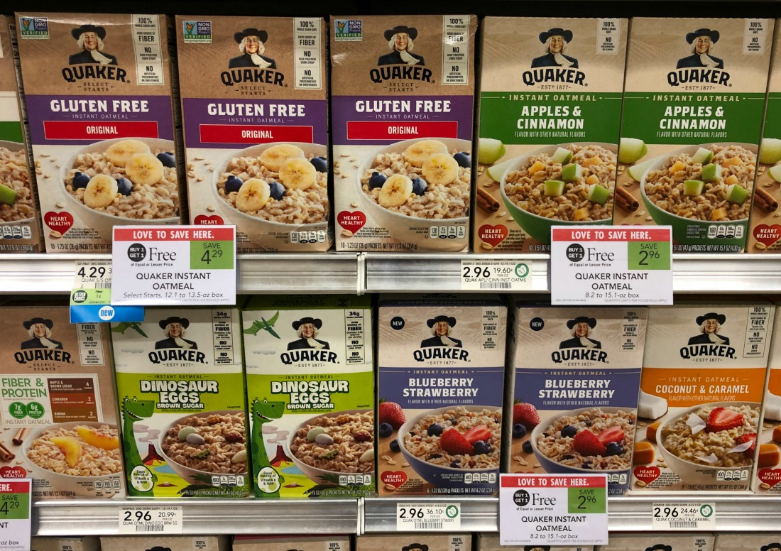 Quaker Instant Oatmeal As Low As 48¢ At Publix on I Heart Publix
