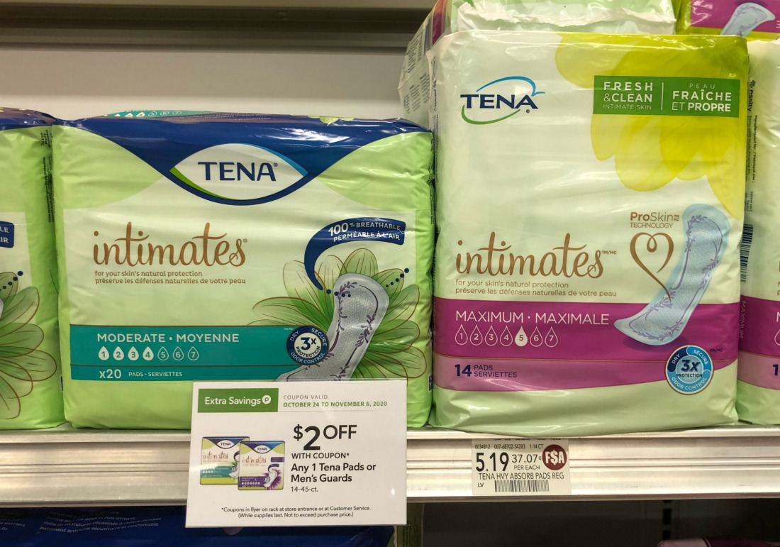 Tena Pads As Low As 69¢ At Publix on I Heart Publix
