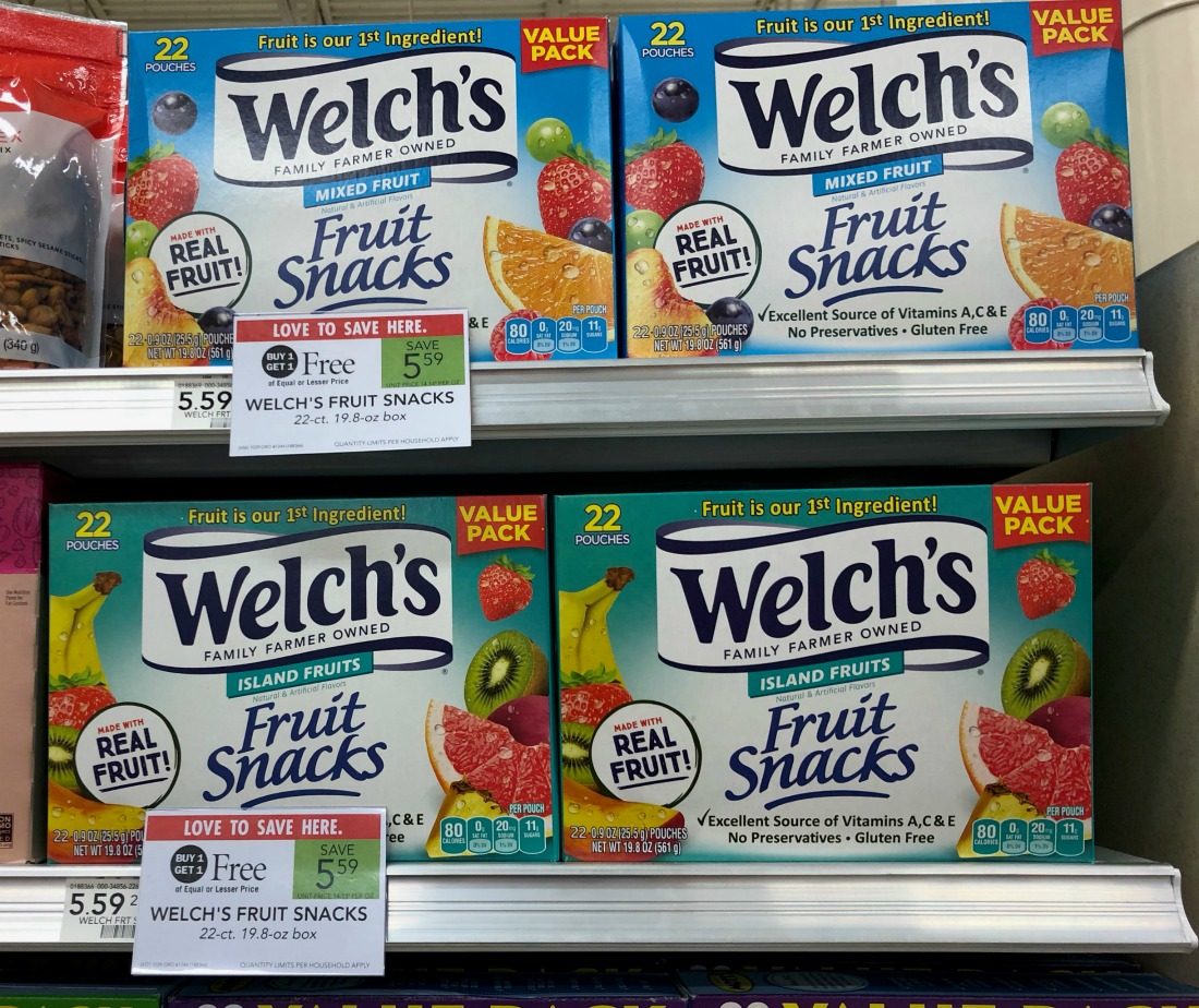 Nice Deals On Welch's Fruit Snacks At Publix - BIG Boxes Just $2.30 on I Heart Publix