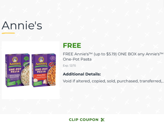 Get Annie's™  One-Pot Pasta For FREE At Publix on I Heart Publix