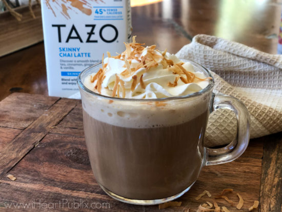 Try This Easy Coconut Chia Latte & Don't Miss Fantastic Savings On TAZO Products At Publix on I Heart Publix