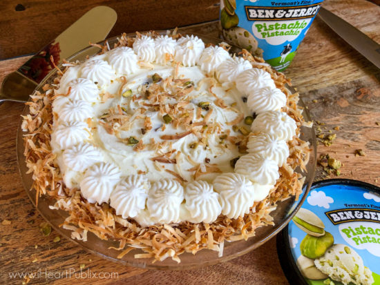 Need An Easy Dessert? Try My Coconut Pistachio Ice Cream Pie! on I Heart Publix 1