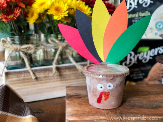 Fun & Festive Thanksgiving Treats - Breyers Turkey & Pilgrim Ice Cream Cups on I Heart Publix 3