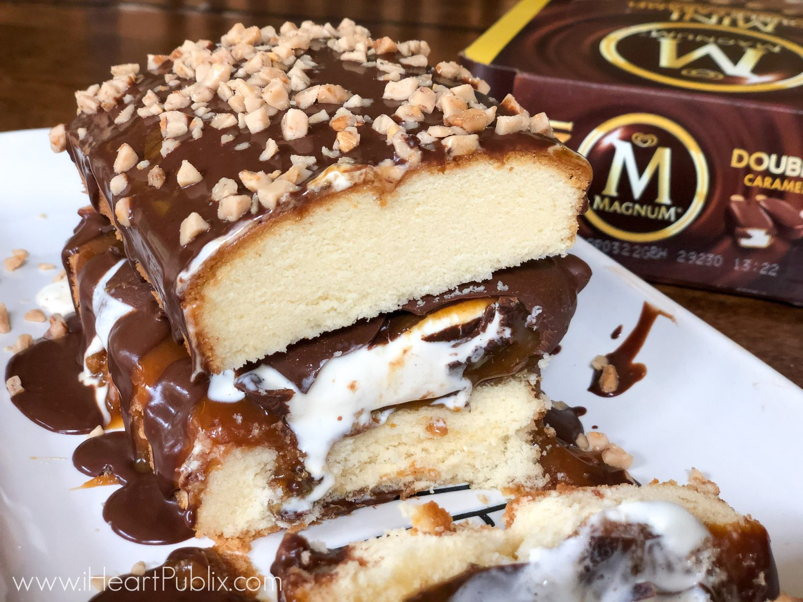 Magnum Chocolate & Caramel Overload Cake - Indulgent Dessert For The Amazing Ice Cream Deals Available Now At Publix on I Heart Publix