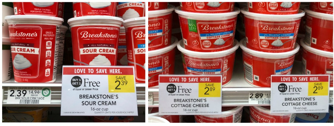 Nice Deals On Breakstone's Sour Cream & Cottage Cheese - As Low As 20¢ on I Heart Publix