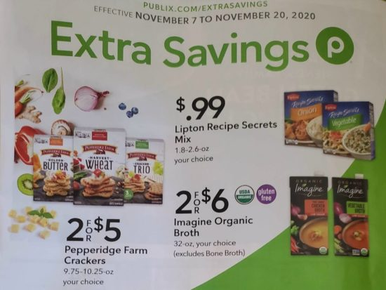 Publix Extra Savings Flyer, 11/7 to 11/20 on I Heart Publix