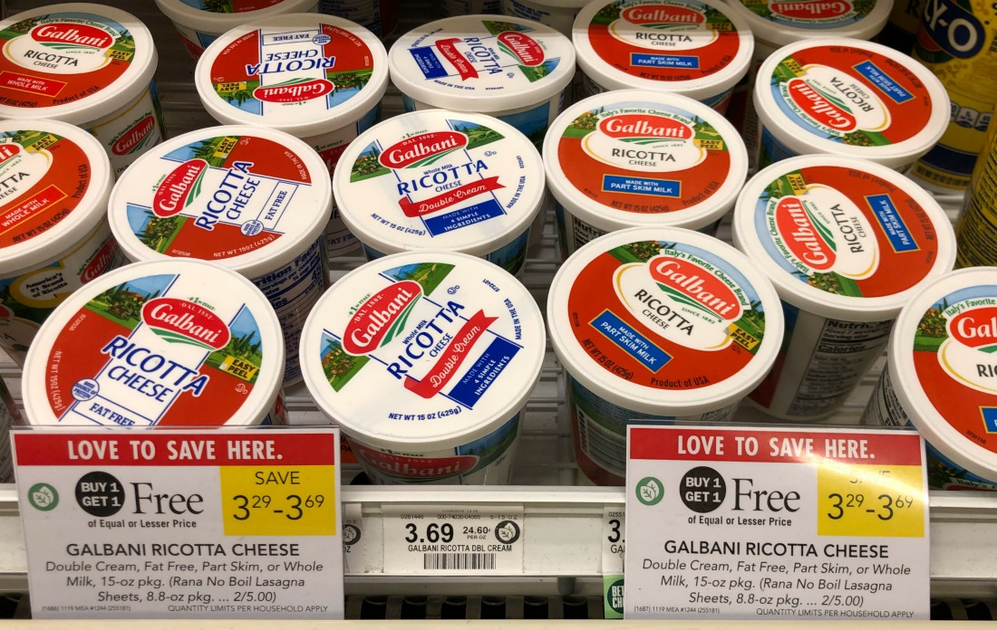 Galbani Ricotta As Low As 65¢ At Publix on I Heart Publix