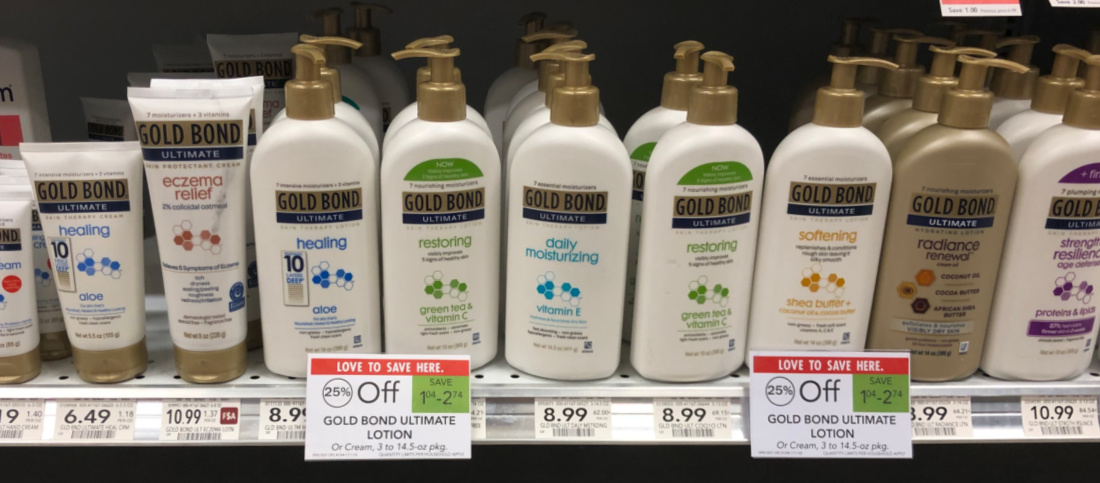 Nice Discount On Gold Bond Lotion - Save Up To $5 At Publix on I Heart Publix