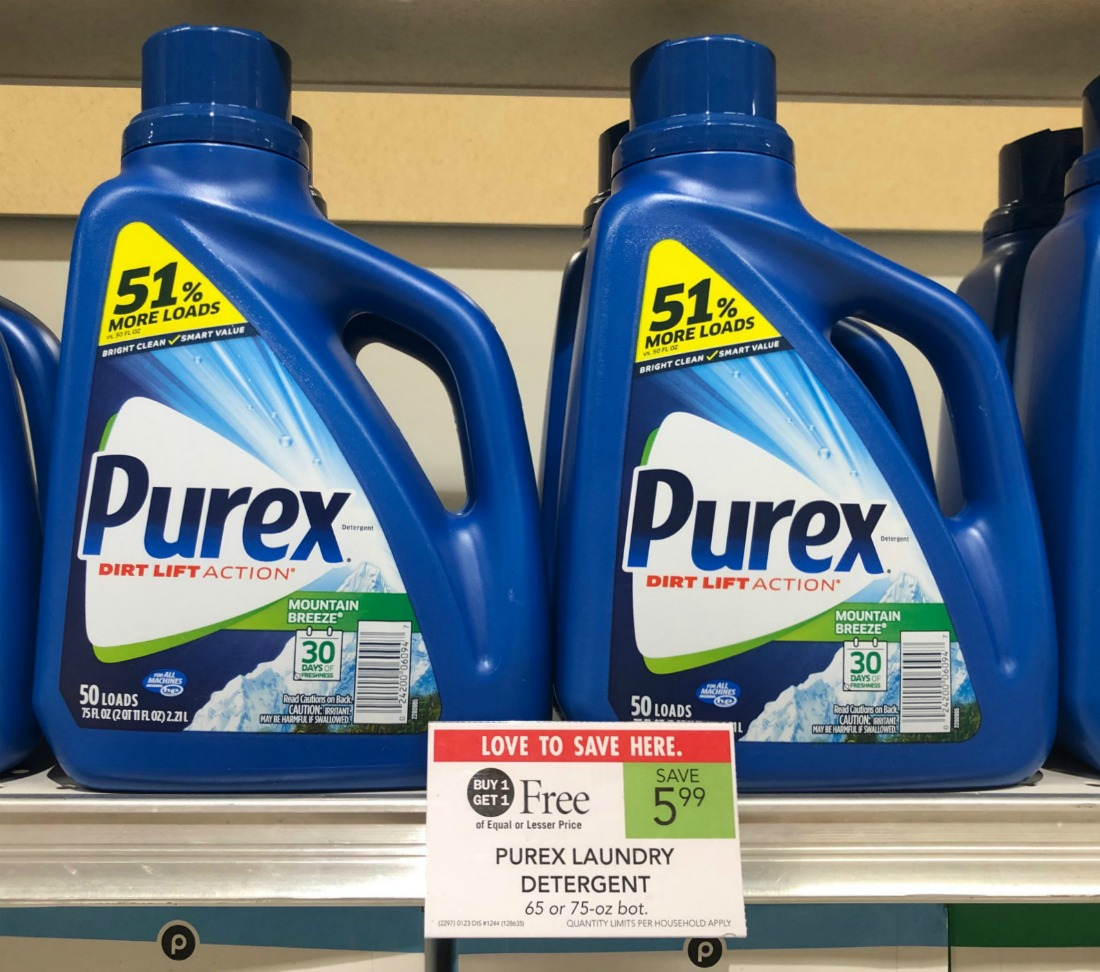 Purex Laundry Detergent As Low As FREE At Publix on I Heart Publix