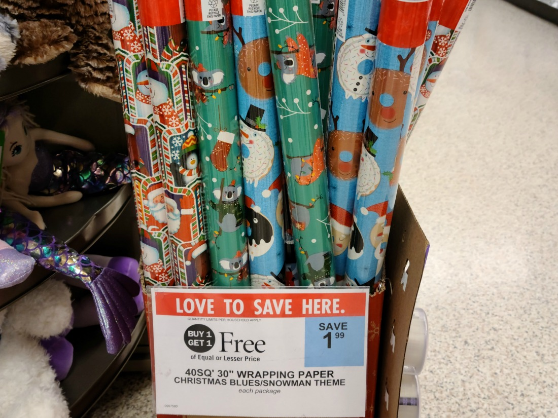 Holiday Wrapping Paper Only 50¢ Per Roll At Publix