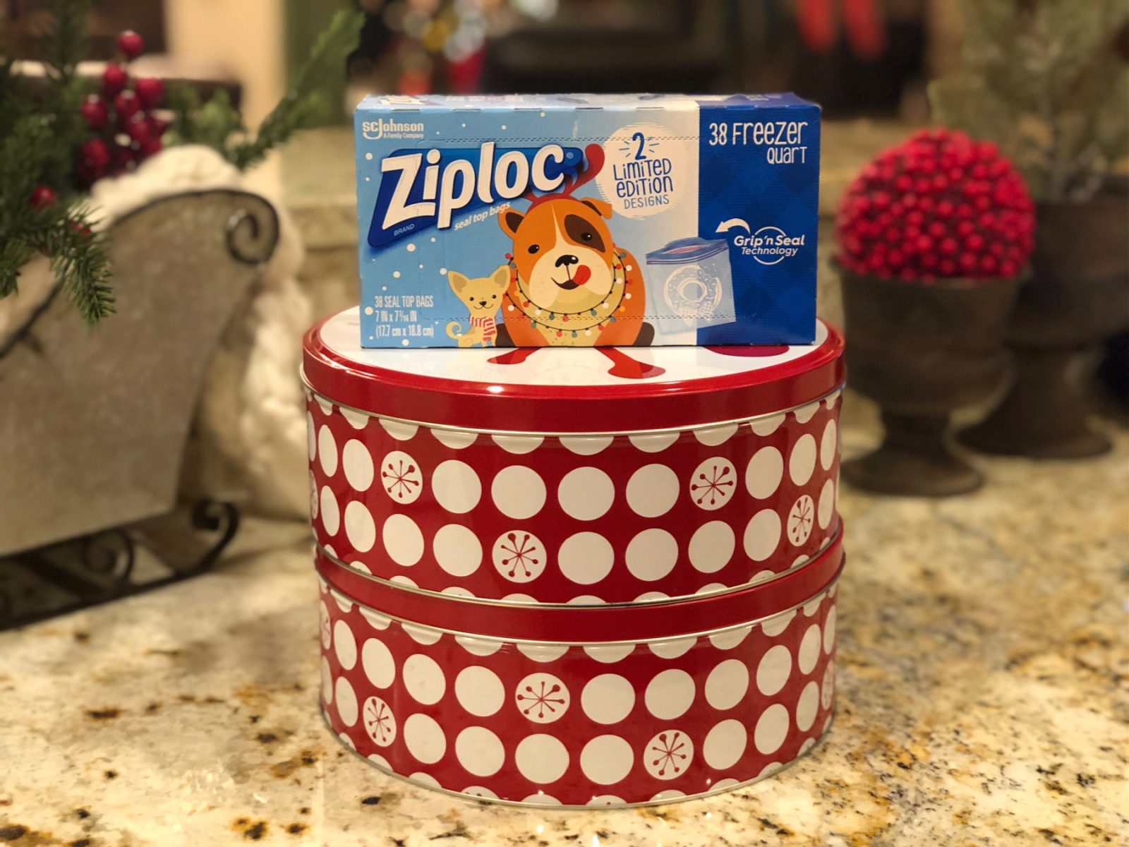 Celebrate The Season With Limited Edition Ziploc® Brand Holiday Bags - Why Not Host A Socially Distanced Cookie Exchange? on I Heart Publix