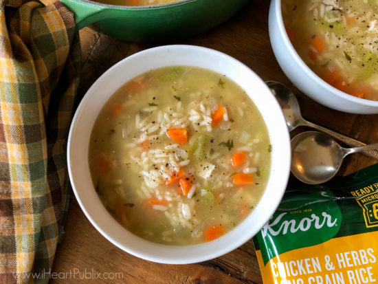 Easy Chicken And Rice Soup on I Heart Publix