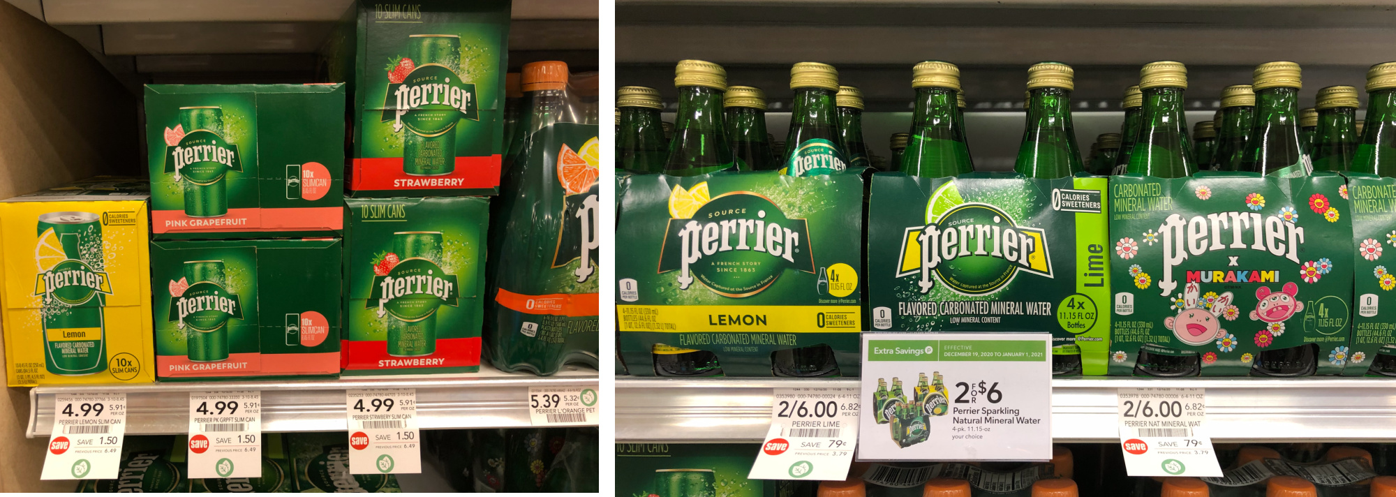 PERRIER® Sparkling Natural Mineral Water Slim Cans 10-Pack Just $3.49 At Publix on I Heart Publix 1