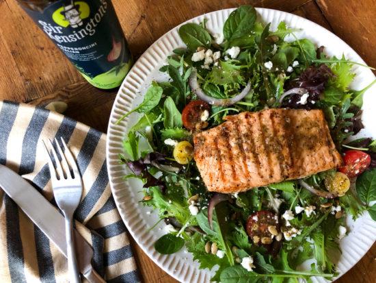 Easy Italian Marinated Salmon Salad on I Heart Publix 1