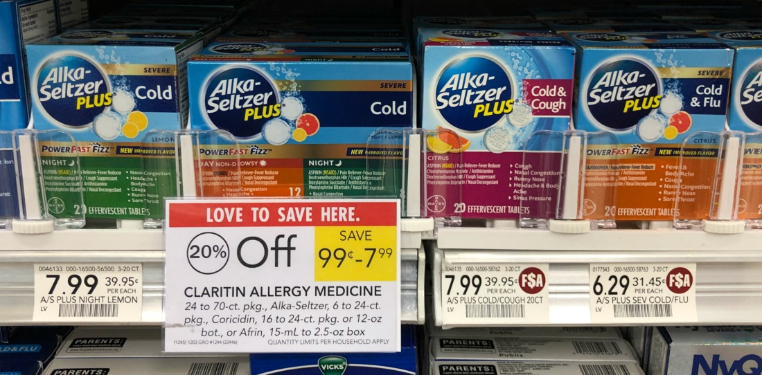 Alka-Seltzer Plus Just $1.29 At Publix on I Heart Publix
