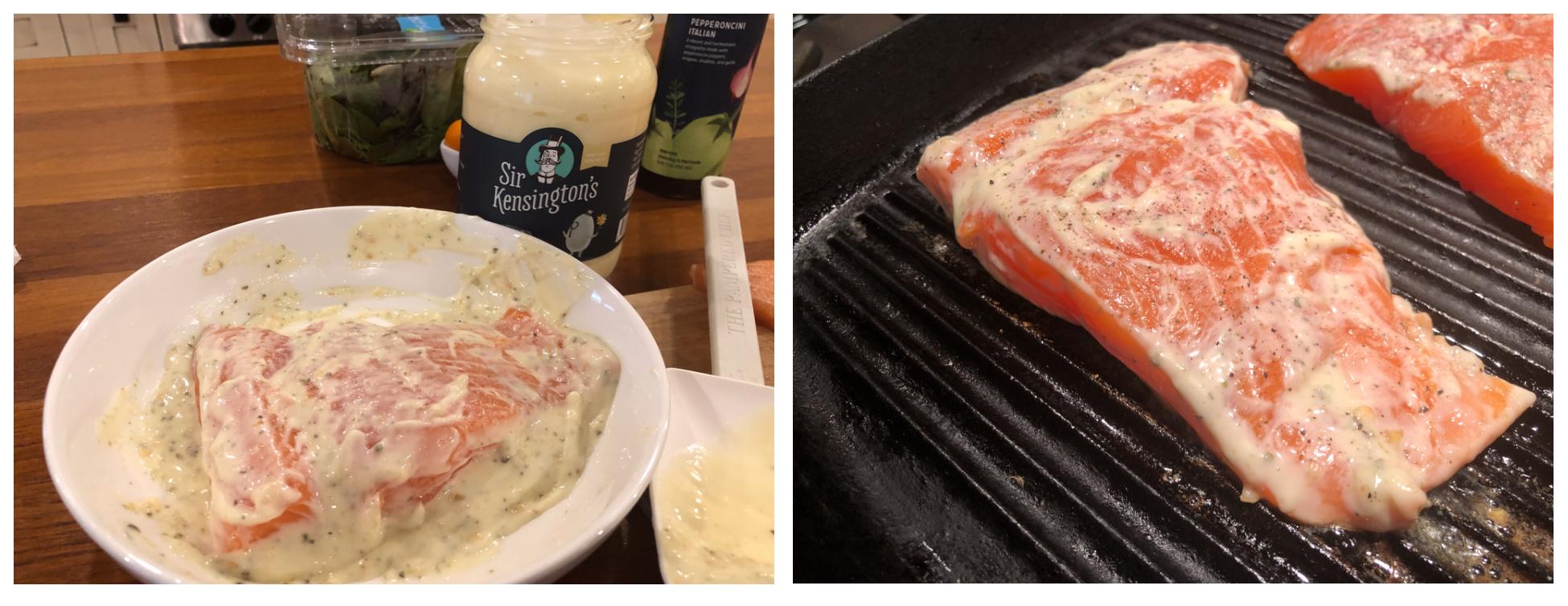 Easy Italian Marinated Salmon Salad on I Heart Publix 2