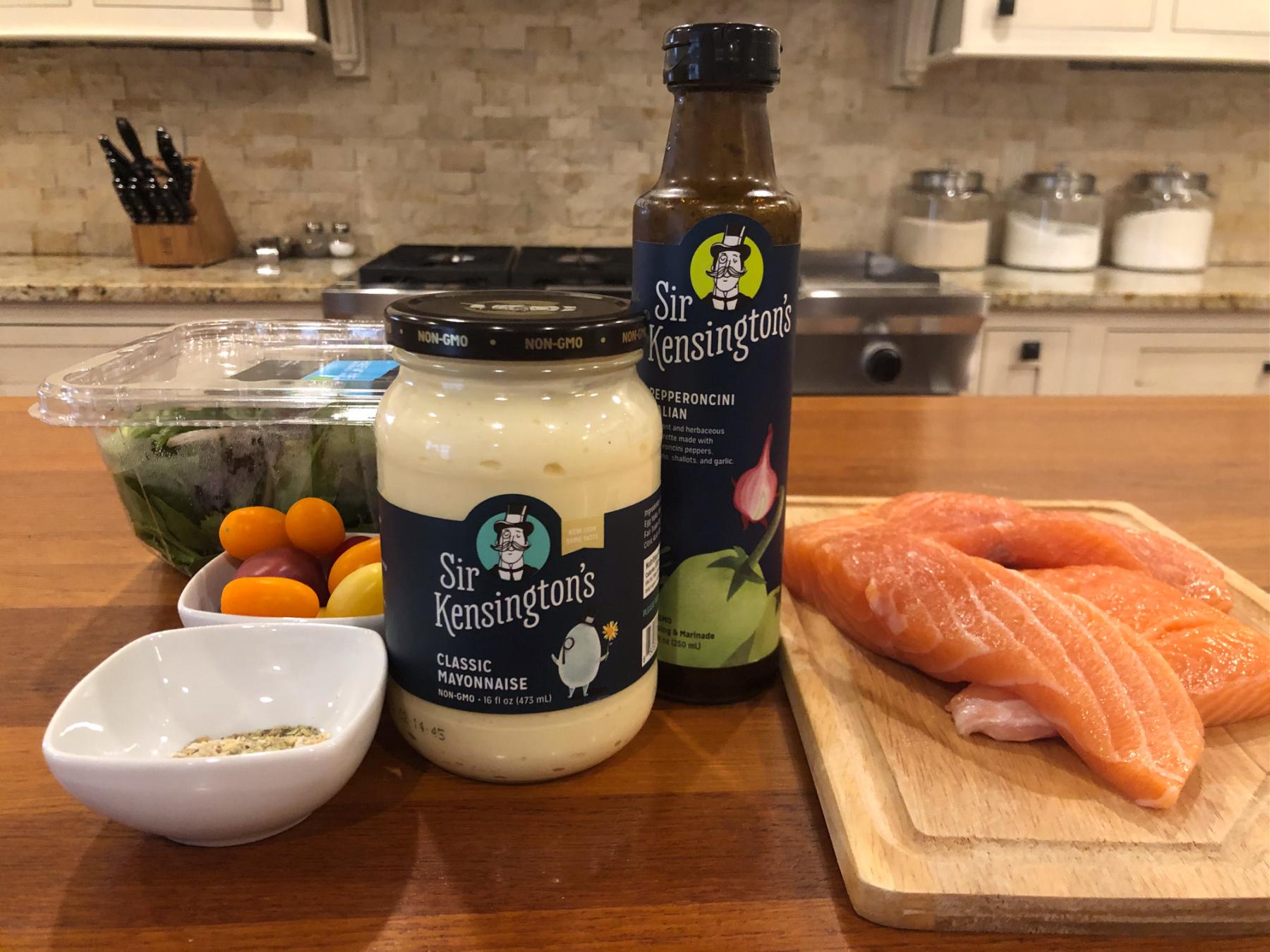 Easy Italian Marinated Salmon Salad on I Heart Publix 3