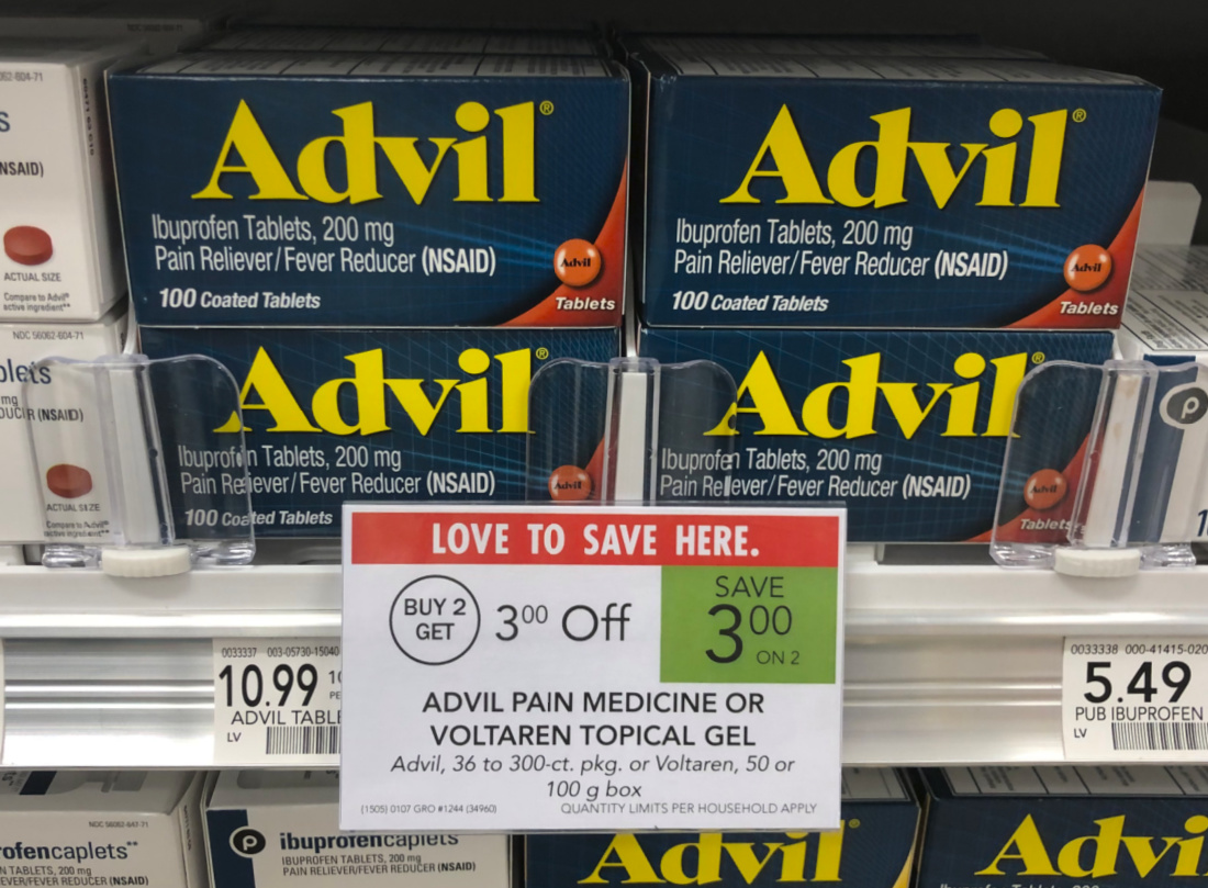 Advil 100ct As Low As $4.99 At Publix (Regular Price $10.99!!) on I Heart Publix