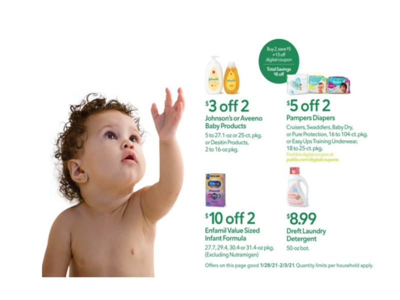 """New Baby Booklet - """"Full Of Savings"""" Coupons Valid Through 10/28 on I Heart Publix"""