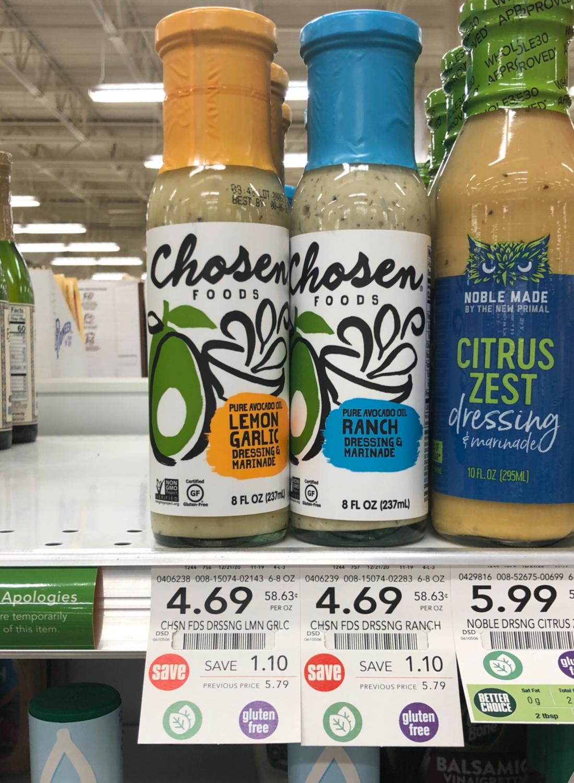Chosen Foods Dressing Just $2.19 (reg $5.79) on I Heart Publix
