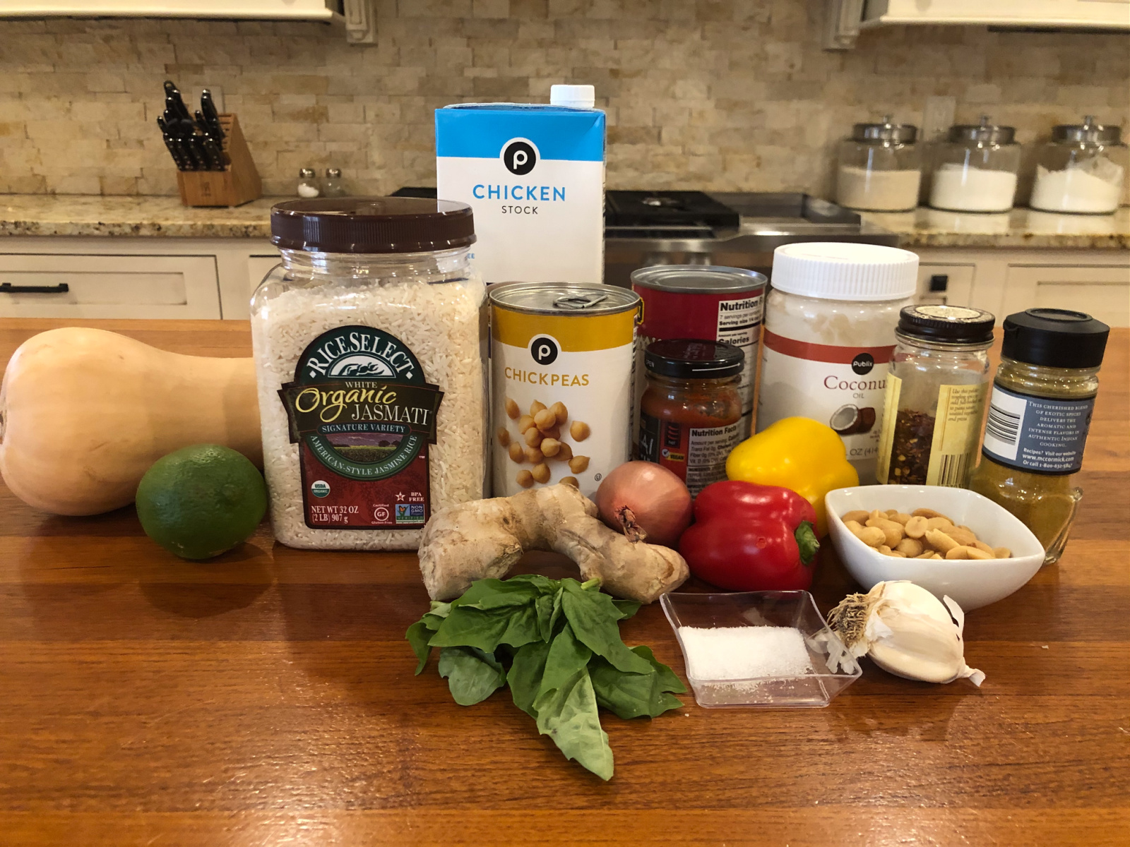 Easy Butternut & Chickpea Curry Over RiceSelect Organic Jasmati Rice on I Heart Publix