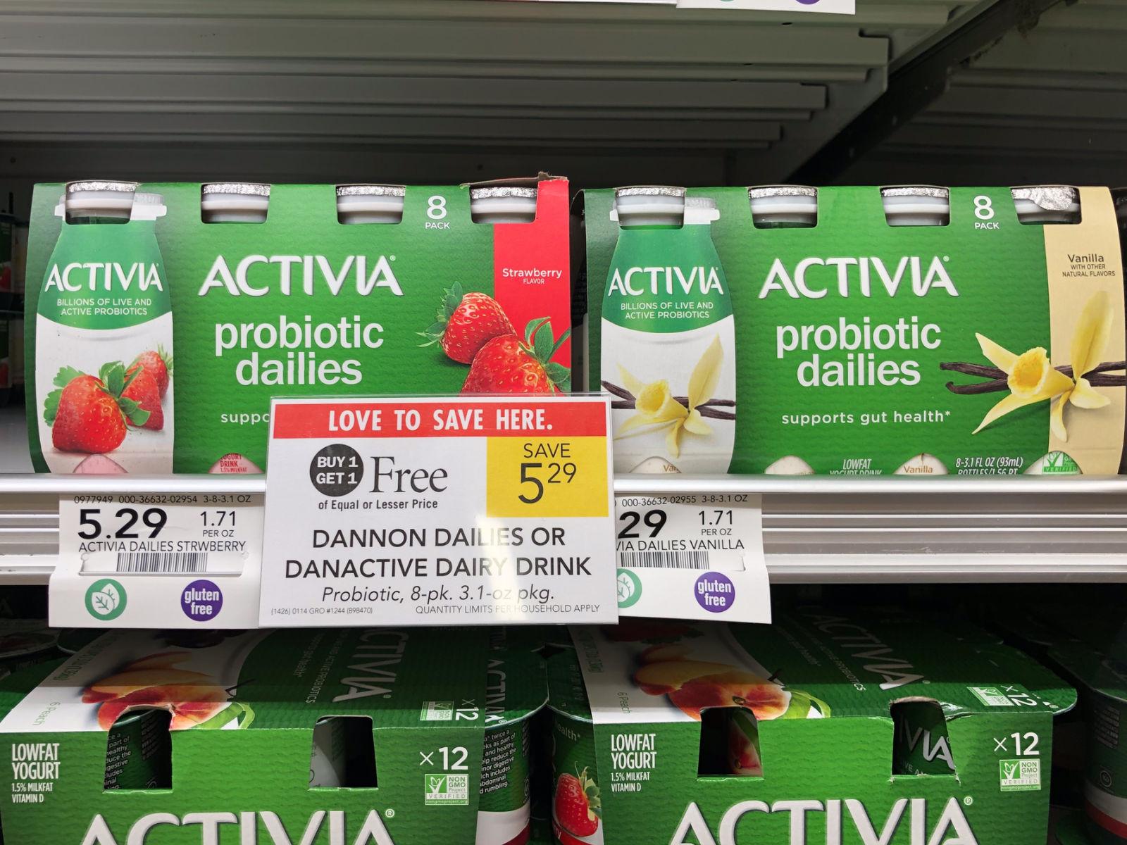 Dannon Activia Probiotic Dailies 8-Pack Only 65¢ At Publix (8¢ Per Serving) on I Heart Publix 1
