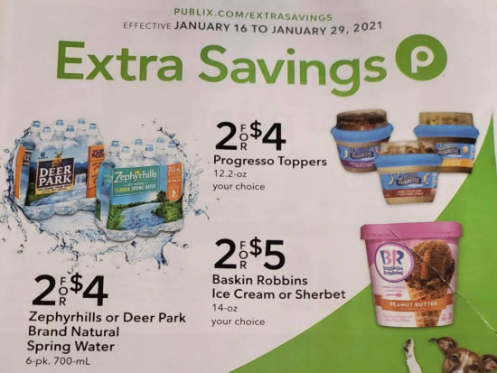 Publix Extra Savings Flyer Valid 1/16 to 1/29 on I Heart Publix