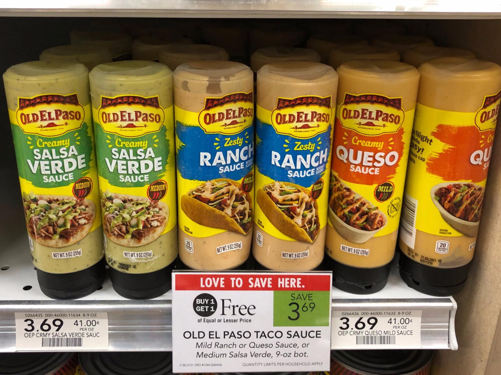 Old El Paso Taco Sauce Just 85¢ At Publix on I Heart Publix 1