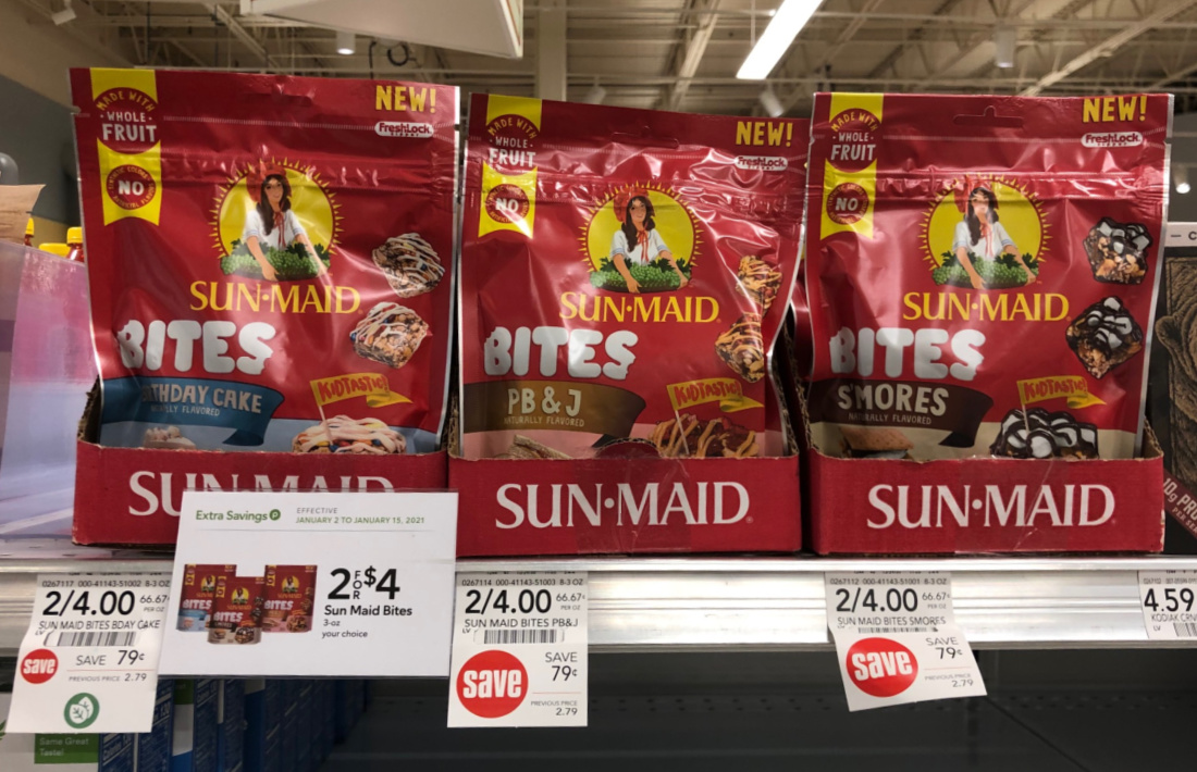 Sun-Maid Bites Just 29¢ At Publix on I Heart Publix 1