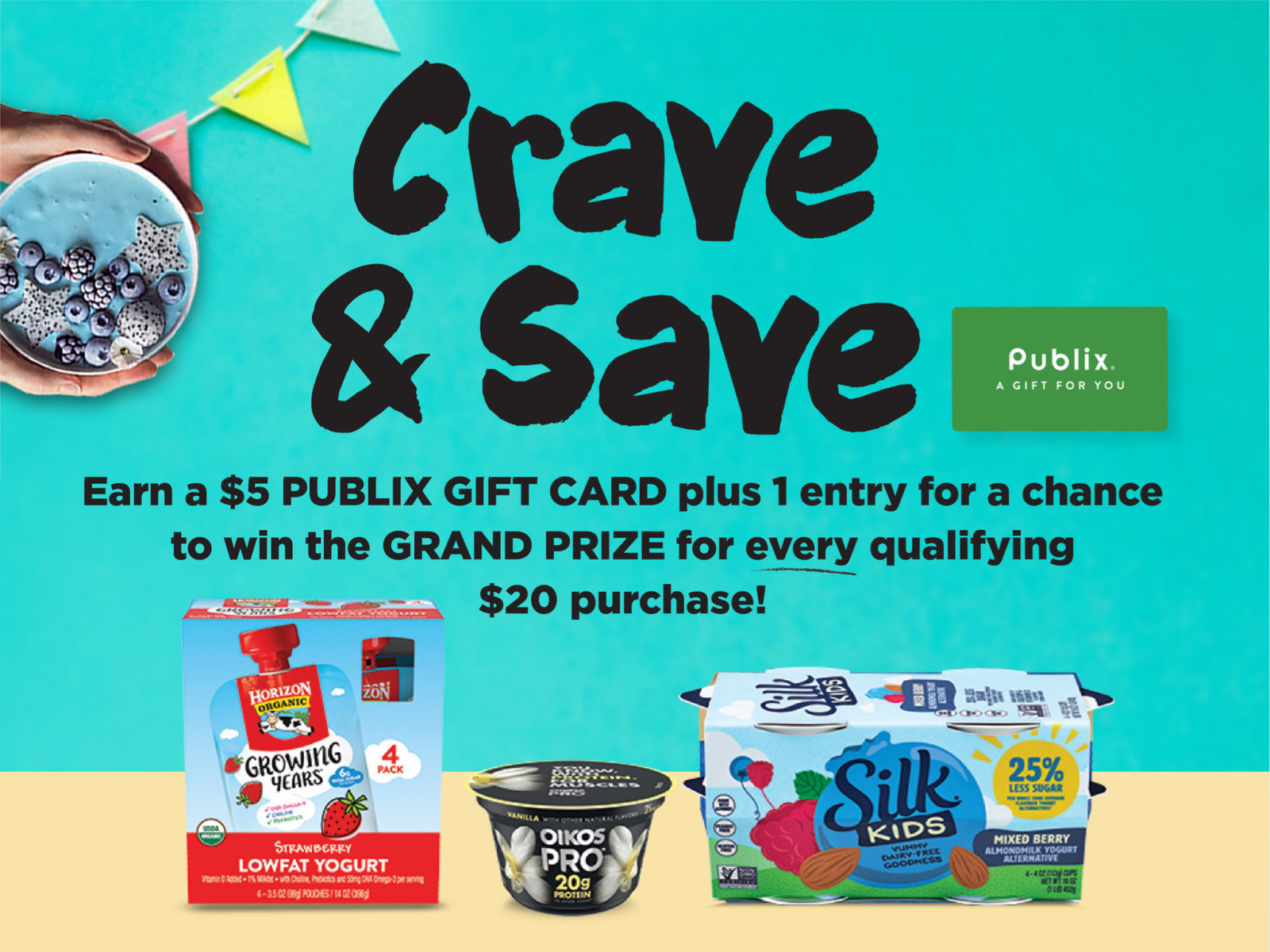 Great Week To Earn Gift Cards With The Crave & Save Program on I Heart Publix