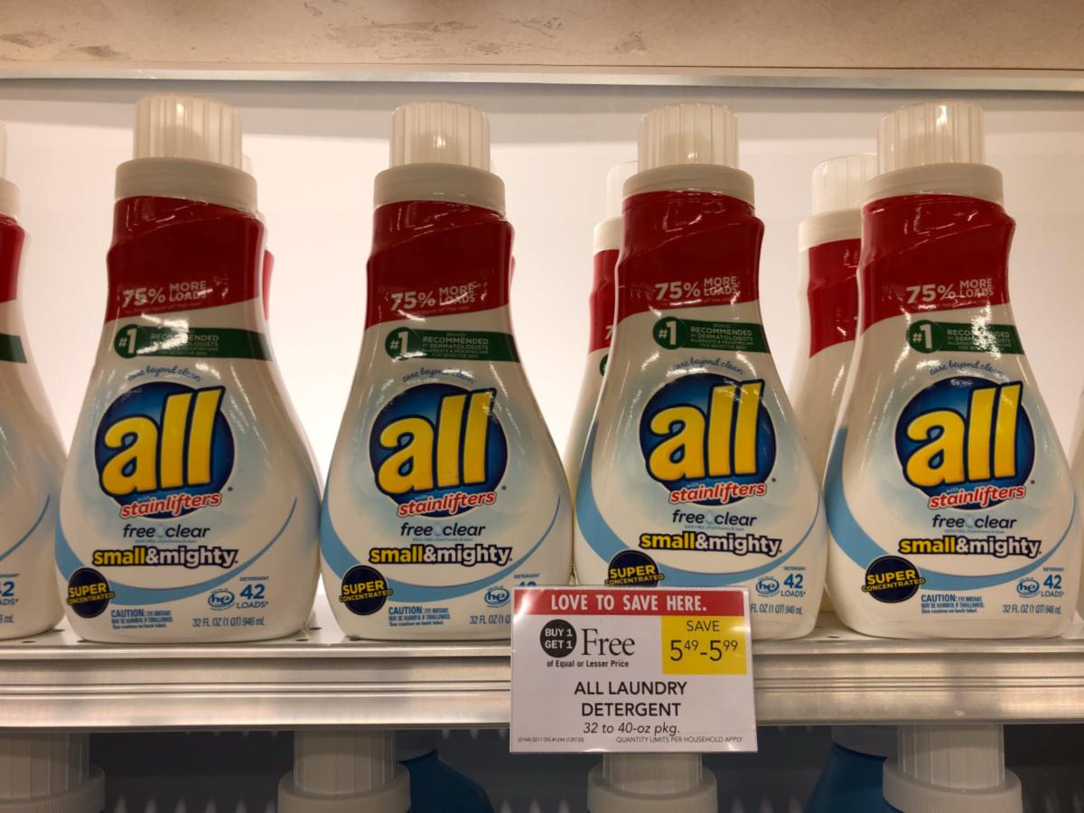 All Laundry Detergent As Low As $1.75 Per Bottle At Publix on I Heart Publix