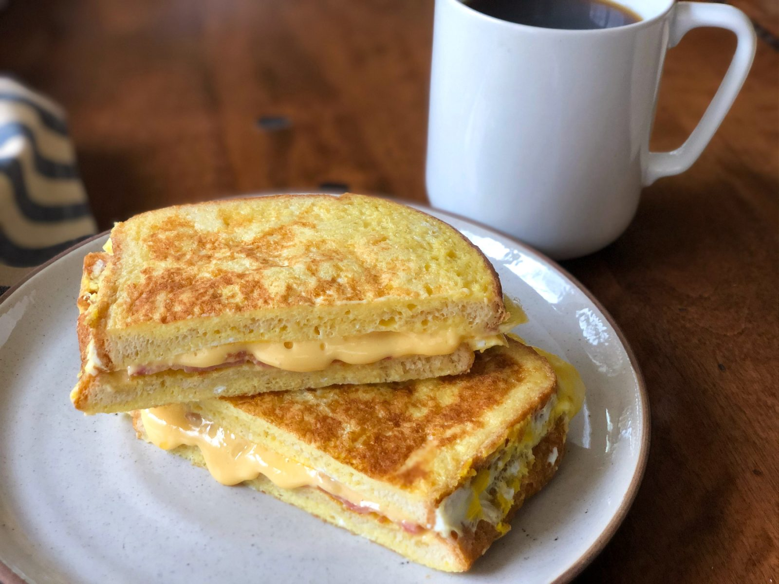 Bacon & Cheese Omelet Sandwich on I Heart Publix
