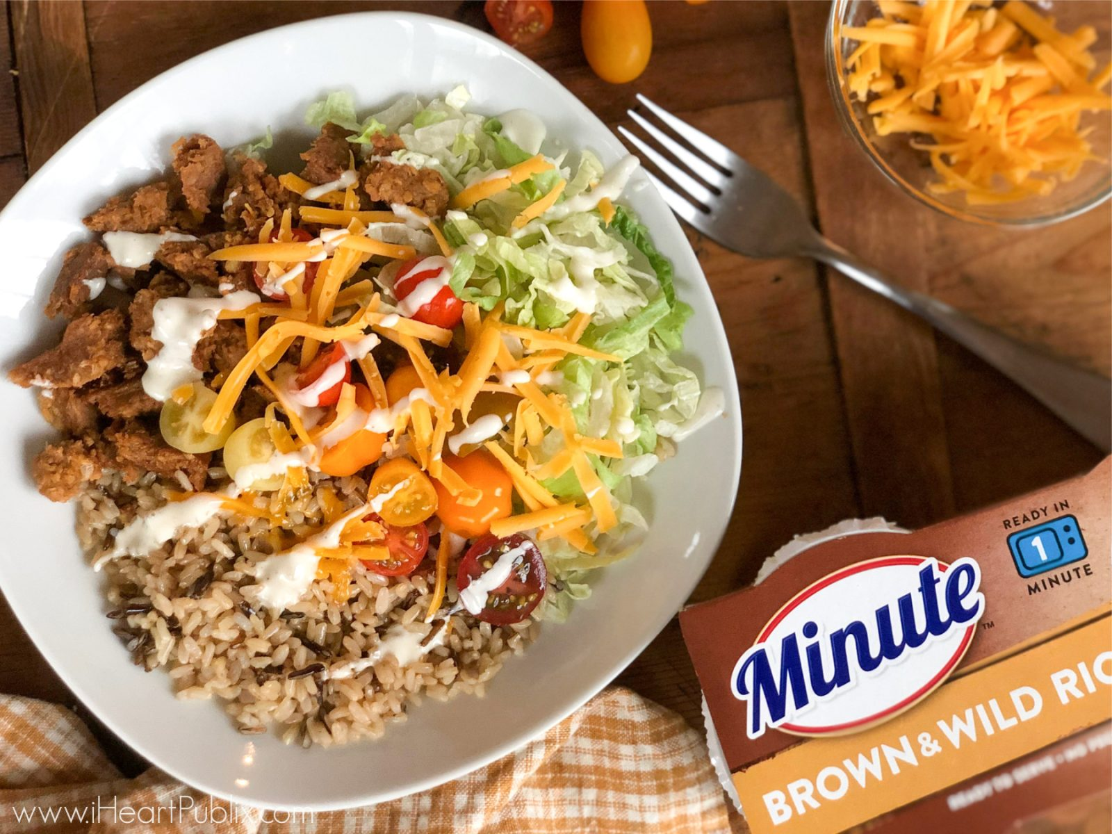 Grab Savings On Minute Rice & Ronzoni At Publix - Whip Up A Delicious Greek Brown Rice and Veggie Bowl on I Heart Publix