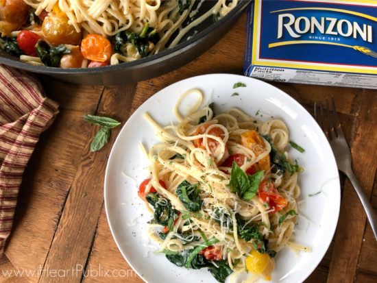 Spinach and Ricotta Linguine on I Heart Publix