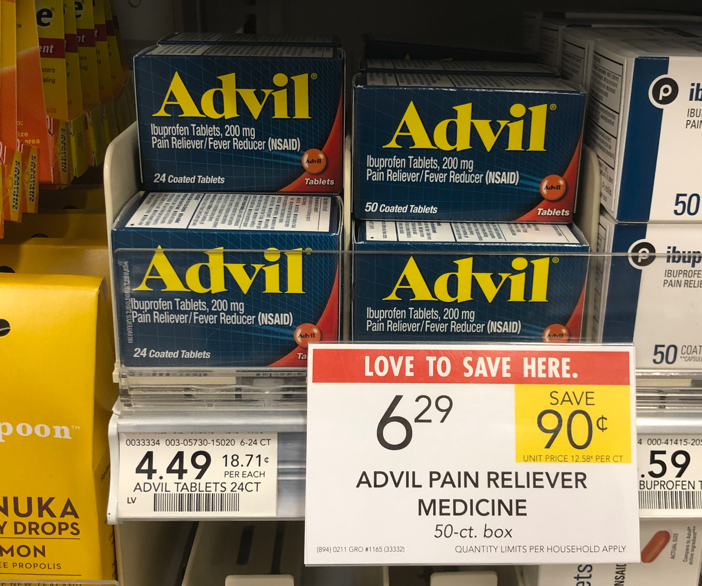 Advil 100 Count Bottles As Low As $3.49 At Publix (Regular Price $10.99!!) on I Heart Publix