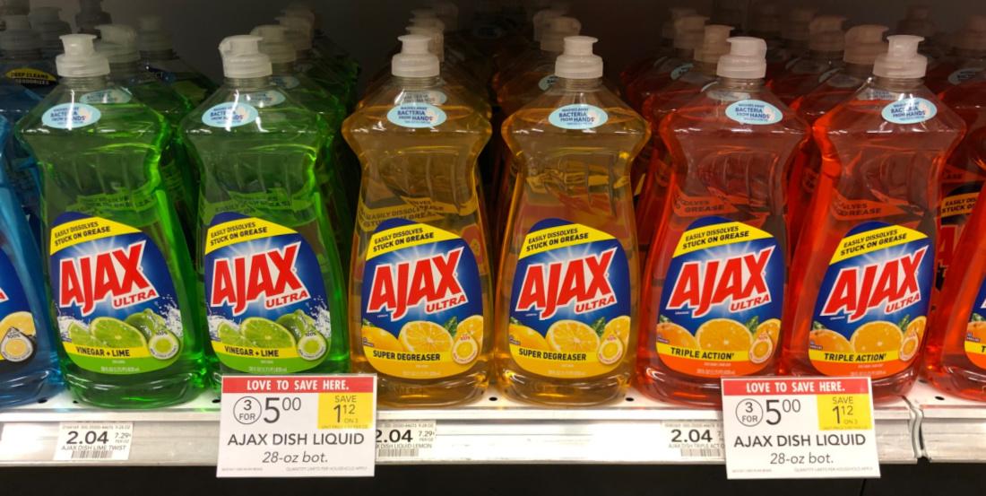 Ajax Dish Liquid Only $1.17 At Publix on I Heart Publix