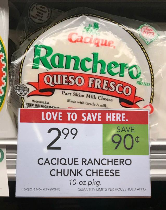 Cacique Ranchero Chunk Cheese on I Heart Publix