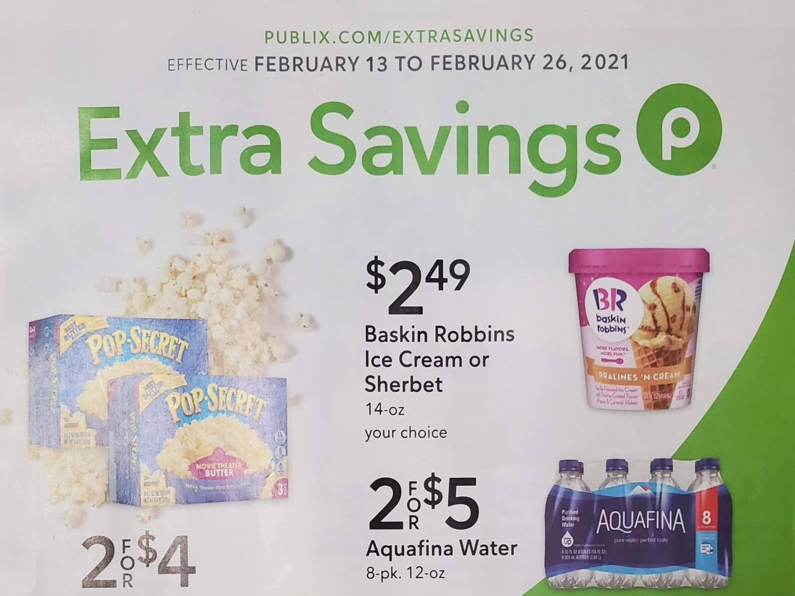 Publix Extra Savings Flyer Valid 2/13 to 2/26 on I Heart Publix
