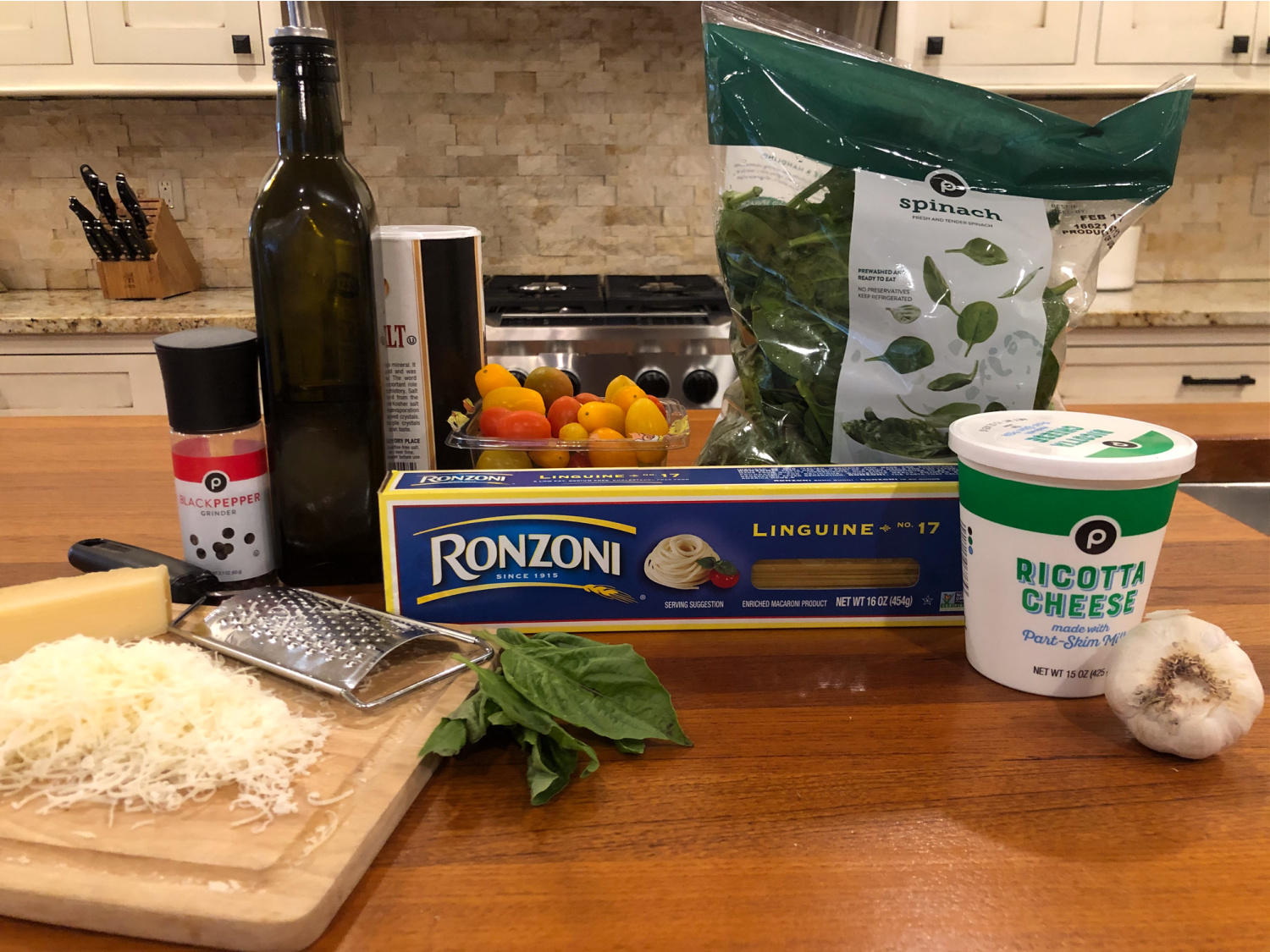 Spinach and Ricotta Linguine on I Heart Publix 1