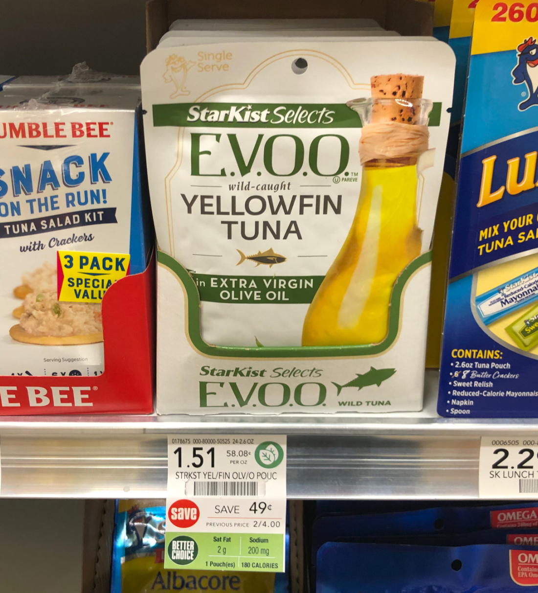 Starkist Selects E.V.O.O. Yellowfin Tuna As Low As 76¢ At Publix on I Heart Publix