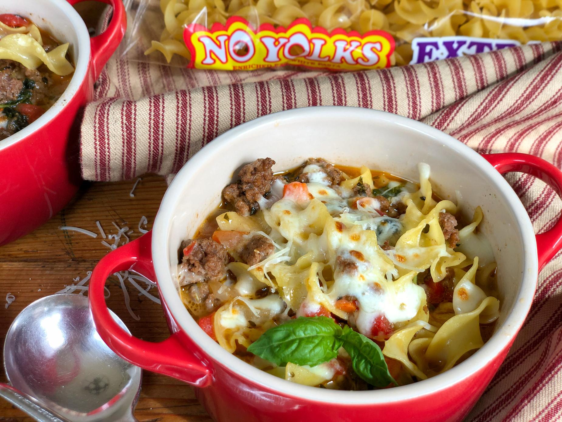 Meaty Lasagna Noodle Soup on I Heart Publix 1