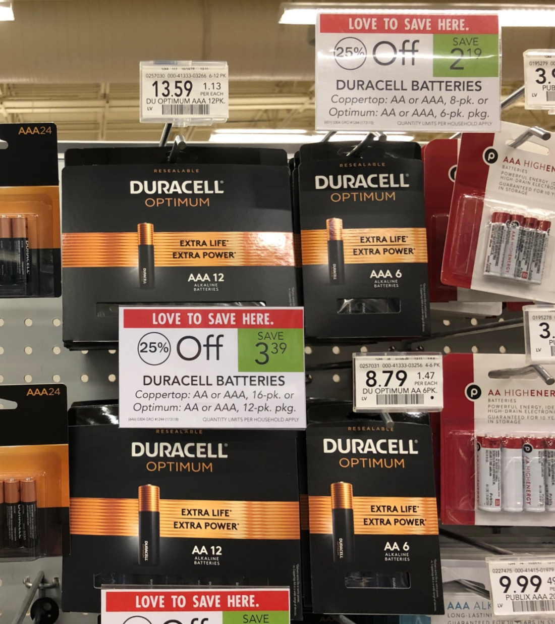 Duracell Optimum Batteries As Low As $2.29 (Regular Price $8.79!) on I Heart Publix